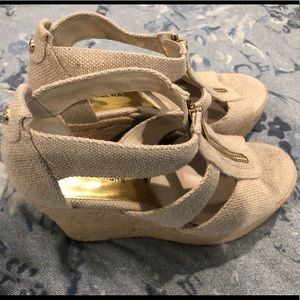 Worn once! Micheal Kors Wedges size 5.5